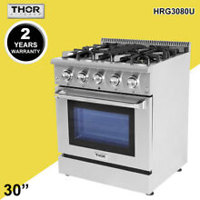 Thor Kitchen30 Gas Rangetop Oven HRG3080U 4 Burner Stove Cooker Stainless Steel
