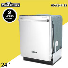 Thor Kitchen 24  Automatic Dishwasher Semi Built Stainless Steel HDW2401SS