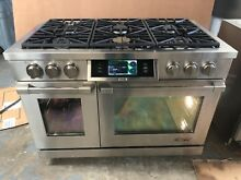 Dacor Discovery IQ 48  Steel Dual Fuel Range in SS Natural Gas