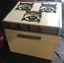 Vintage Camper Stove   Oven   Range   Hood Out Of 1968 Holiday Rambler
