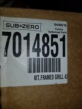 Sub Zero 7014851 Classic Stainless Steel Louvered Insert  OEM