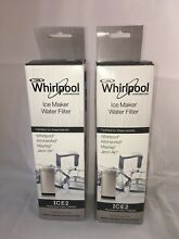 Two   F2WC9I1 Genuine Whirlpool Maytag Ice Maker ICE2 Water Filter BRAND NEW OEM