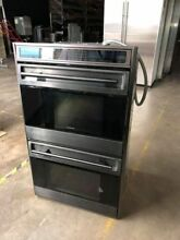 Wolf 30  Black SS Double Convection Wall Oven Model  D030U B