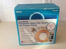 Sears Waterworks Refrigerator Water Filter System with Copper Tubing New