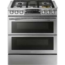 Samsung Stainless Steel Flex Duo Slide In Gas Range