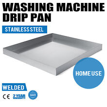 32  x 30  Stainless Washing Machine Drain Pan Washer Adapter Large Size Durable