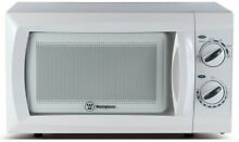 Westinghouse Microwave Oven 0 6 cu  ft  600 Watts Turntable Side Controls White
