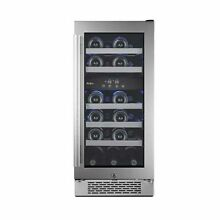 Avallon   23 Bottle 15  Built In Dual Zone Wine Cooler With Left Handle