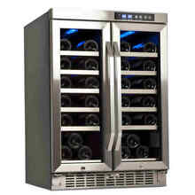 Edgestar   36 Bottle 24  Built In Dual Zone French Door Wine Cooler