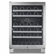 Avallon   46 Bottle 24  Built In or Free Standing Dual Zone Wine Cooler   Rig