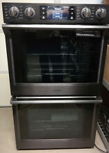 Samsung NV51K7770DG 30  Black Stainless Electric Double Oven For parts   Read