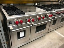 Wolf 48  SS 4 Burners with Griddle and Grille All Gas Range Model  R484CG