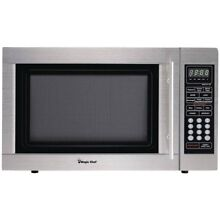 Magic Chef MCD1310ST 1 3 Cubic ft Countertop Microwave  Stainless Steel