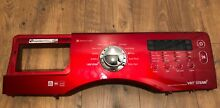 Samsung wf350anr washer control panel and display with red faceplate