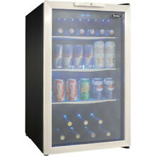 Danby 4 3 Cu  Ft  Beverage Center in Black Stainless Steel   DBC039A1BDB