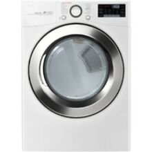 LG White Electric Steam Dryer