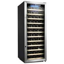 Kalamera Wine Cooler 80 Bottle Glass Door Wine Refrigerator Single Zone with Dig