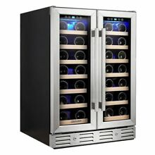 Kalamera 24  Wine refrigerator 40 Bottle Built in or Freestanding with Stainles