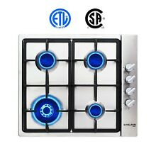 Gas Cooktop  Gasland chef GH60SSC 24  Built in Gas Stove Top  Stainless   New
