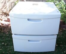 SET 2 SAMSUNG WHITE LAUNDRY PEDESTALS STORAGE WE357A7W XAA FOR WASHER