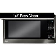 LG 2 0 Cu  Ft  1200W Countertop Microwave Oven in Black Stainless Steel
