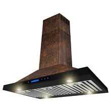 36  Island Mount Kitchen Range Hood Elegant Vine Design