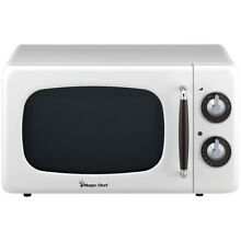Magic Chef  7 Cubic  ft 700 watt Retro Microwave  white