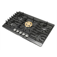 30  76cm Gas Glass Cooktop 5 Burners Built In Gas LPG  NG Black for Kitchen