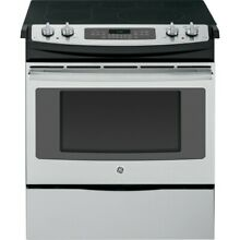 GE JS750SFSS 30  Slide in Electric Range Convection Oven Stainless Steel