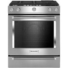 KitchenAid 30  Stainless Steel Slide In Gas Range