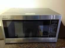 SHARP ZR651ZS 2 2 CU   Full size Microwave 1200 watts   Stainless Steel