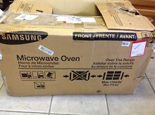 Samsung ME18H704SFS 1 8 cu ft  Over  the Range Microwave  Stainless Steel silver