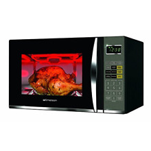 Emerson 1 2 CU  FT  1100W Griller Microwave Oven with Touch Control  Stainless S