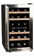 Koldfront   Double zone wine cooler  18 bottles  Stainless steel