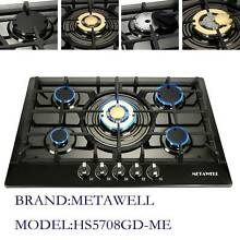 30  Built in 5 Burner Titanium Stoves NG LPG Gas Kitchen Cooktop Cooker US Sell