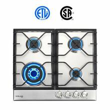Gasland chef  Gas Cooktop   24  Built in Gas Cooktop Stainless Steel 4 Burners