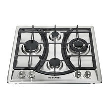 Metawell 23  Stainless Steel Cooktop Built in 4 Burners Gas Cooktops Hob Cooker