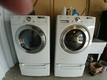 LG TROMM Side by Side HE Washer   Dryer Set  GAS with Pedestals Included