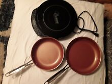NuWave Precision Induction Cooktop Model 30341 with 2 skillets 9 10 5  NEW