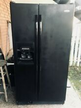 Black Whirlpool Side by Side Refrigerator
