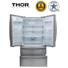 French Door Refrigerator Thor Kitchen HRF3601F 36in  with Automatic Ice Maker