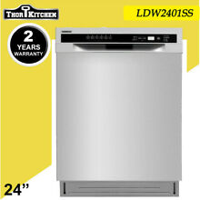 24 Stainless Steel Built in Dishwasher Automatic Dishwasher Semi built LDW2401SS