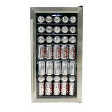 Whynter Beverage Cooler Refrigerator 117 12 Oz Can UV Filtered Glass Door Steel