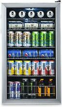 NewAir Glass Door Mini Beverage Cooler and Refrigerator Home Appliance Ice Maker