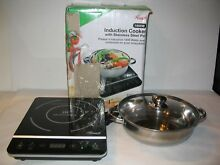 NEW Rosewill RHAI 13001 1800 Watt Induction Cooker Cooktop w Stainless Steel Pot