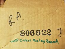 Genuine WOLF Built in Oven  Relay Board   806822 NEW Sealed