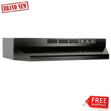 Broan Stainless Steel Ductless Range Hood Insert with Light  Exhaust Fan for 36