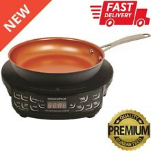 2PC Precision Induction Cooktop with 9  Nonstick Frypan Set Home Kitchen Cooking