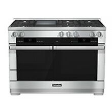 Miele 48  Stainless Steel Freestanding Dual Fuel Range With Griddle