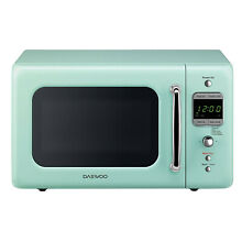 Daewoo  Retro Microwave Oven 0 7 Cu  Ft  700W   Mint Green  Vintage  Retro  50s
